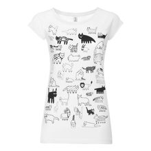 90Cats Cap Sleeve black/white GOTS & Fairtrade