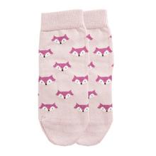 Fuchs Socke Biobaumwolle Pink 001
