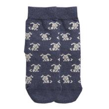 Hunde Socke Biobaumwolle dunkelblau 001