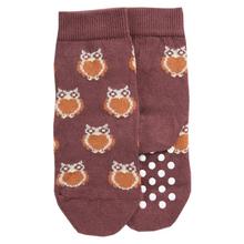 Socken mit Noppen Eule Biobaumwolle 001