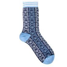 Katzen Socken hellblau Biobaumwolle 001