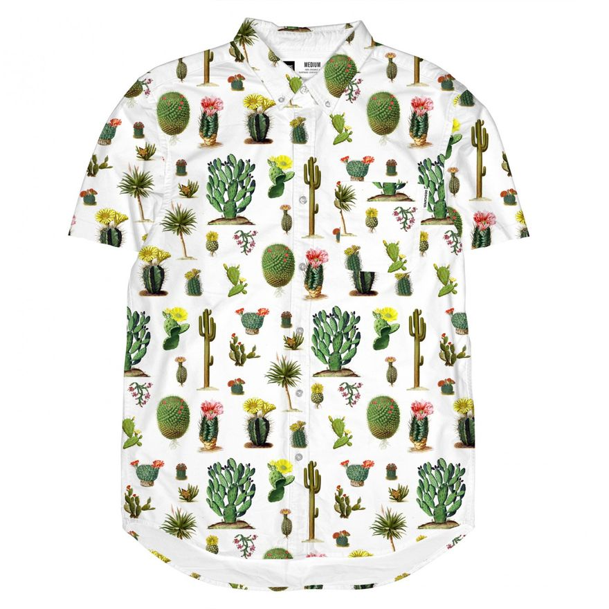 Short Sleeve Shirt Cactus white