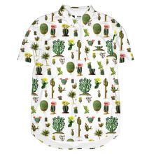Short Sleeve Shirt Cactus white  001