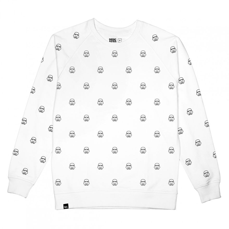 Star Wars Trooper Stitch Sweater white