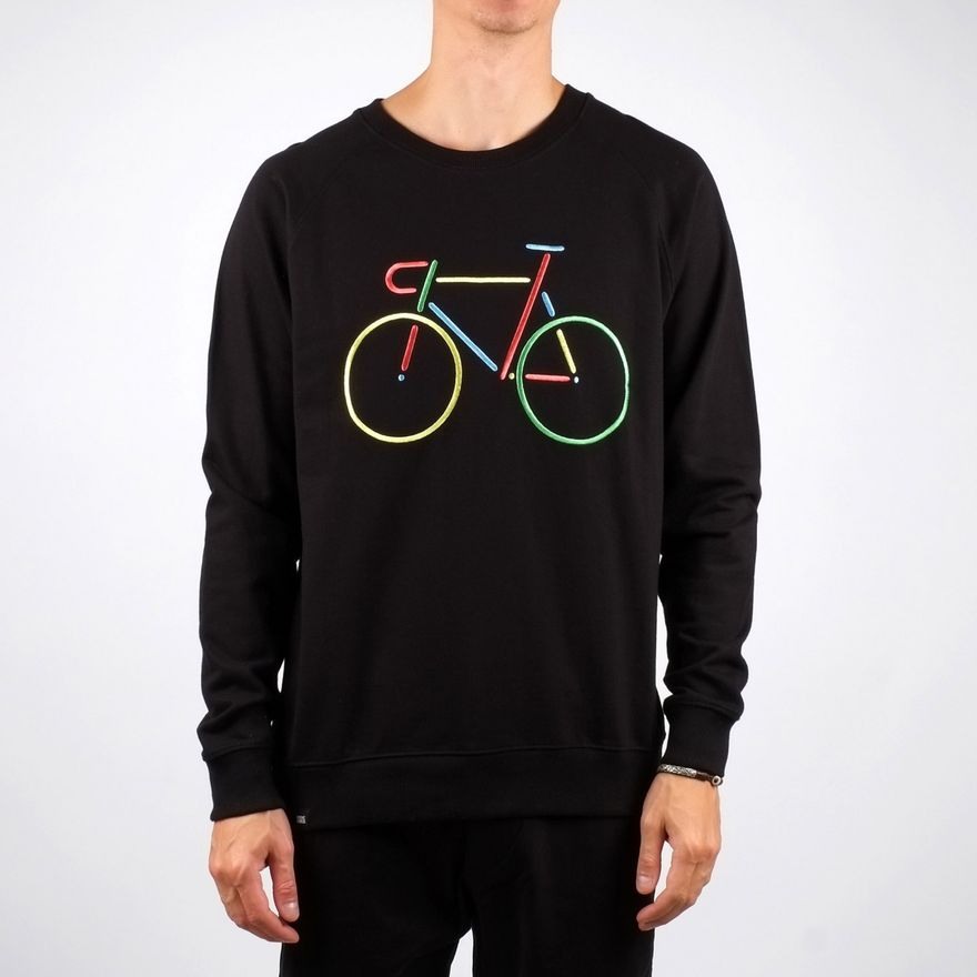 Malmoe Sweatshirt Color Bike Emroidery Black – Bild 4