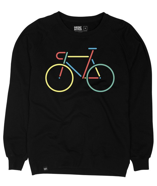 Malmoe Sweatshirt Color Bike Emroidery Black – Bild 1