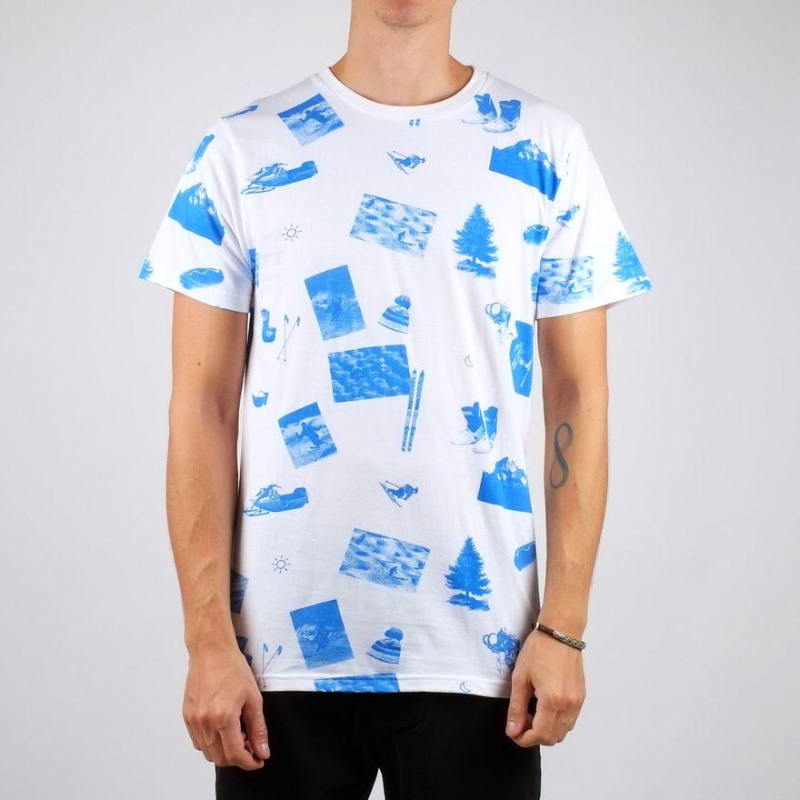 Stockholm T-Shirt Ski Collage – Bild 3