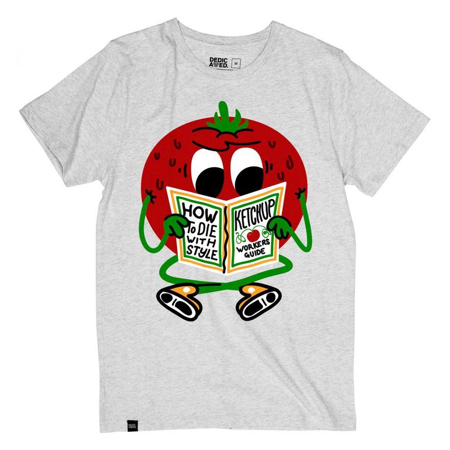 Stockholm T-Shirt Ketchup Grey – Bild 1