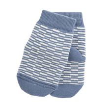 Stripe Kinder Socken blau Biobaumwolle 001