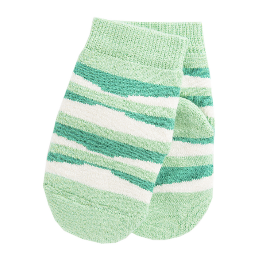 Wave Green Kinder Socken Biobaumwolle