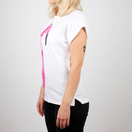 T-shirt Visby Drawn Flamingo	/ White – Bild 4