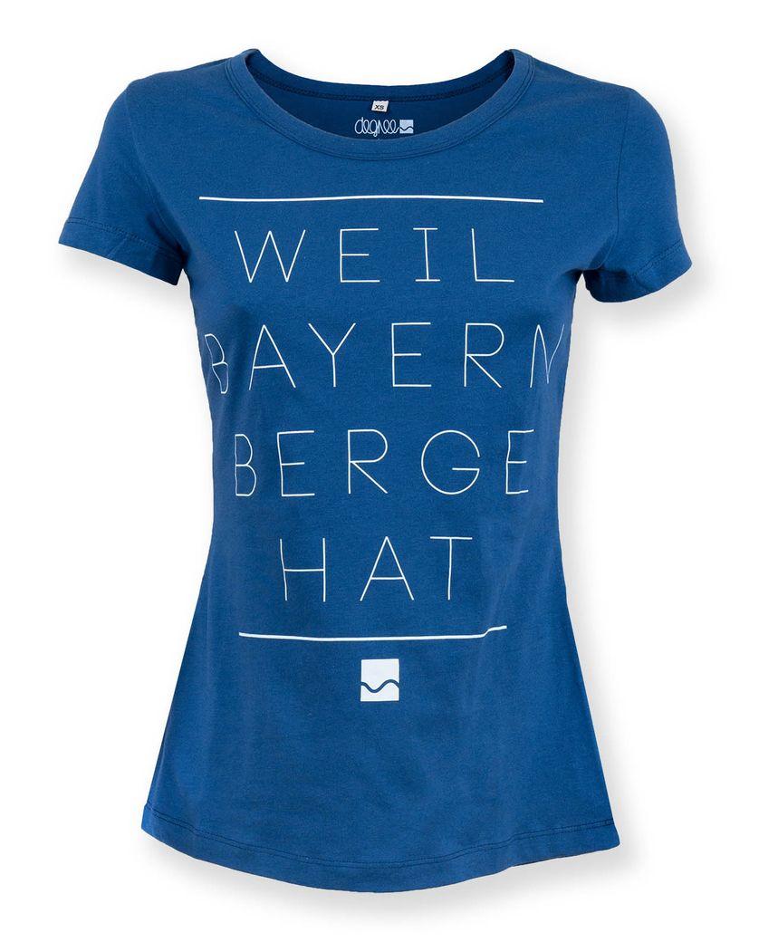 Shirter Weil Bayern Berge blau – Bild 5