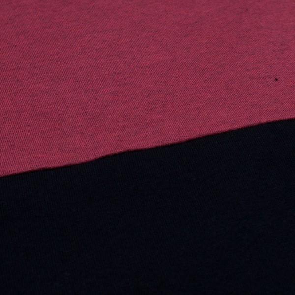 Half Half T-Shirt rot schwarz – Bild 4