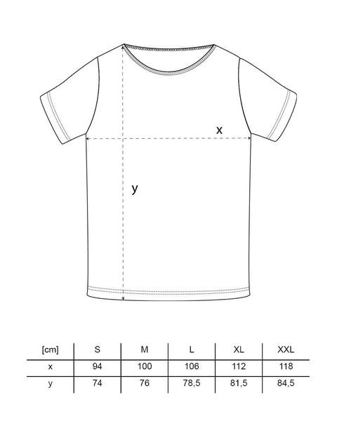 Half Half T-Shirt rot schwarz – Bild 7