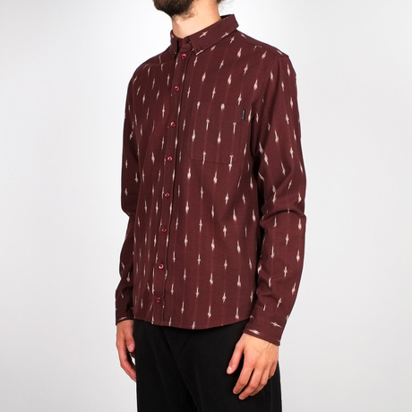 Shirt Varberg Handloom Diamonds Burgundy – Bild 7