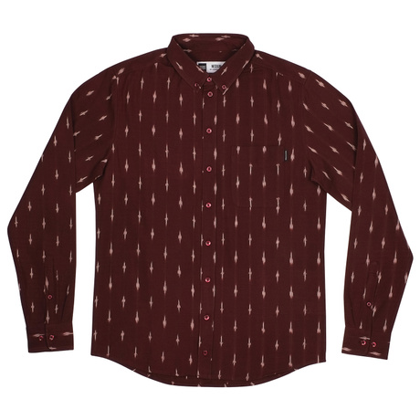 Shirt Varberg Handloom Diamonds Burgundy – Bild 1
