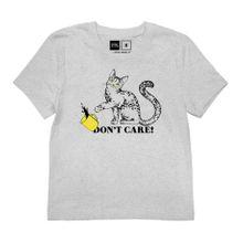 T-shirt Mysen Do Not Care/ Grey Melange