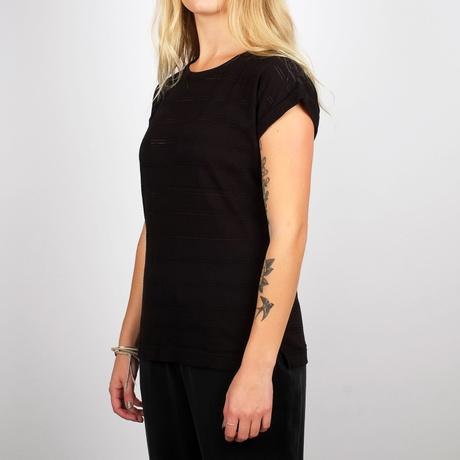 T-shirt Visby Lace Jersey/ Black – Bild 2