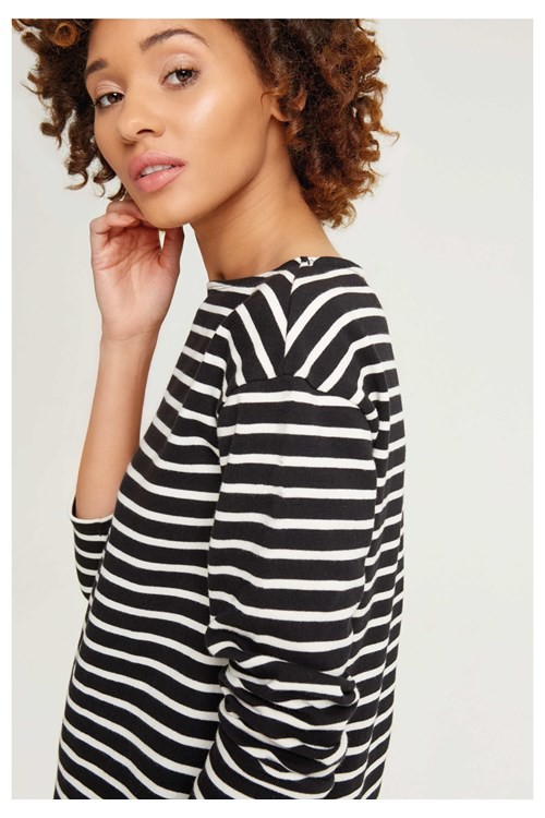 Gia Stripe Top Black – Bild 1