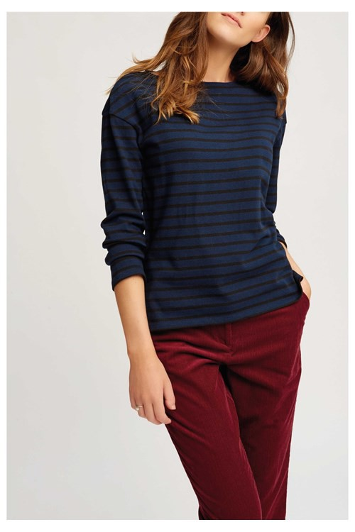 Gia Stripe Top Navy  – Bild 3