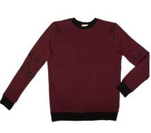 Cross jumper Burgundy 001
