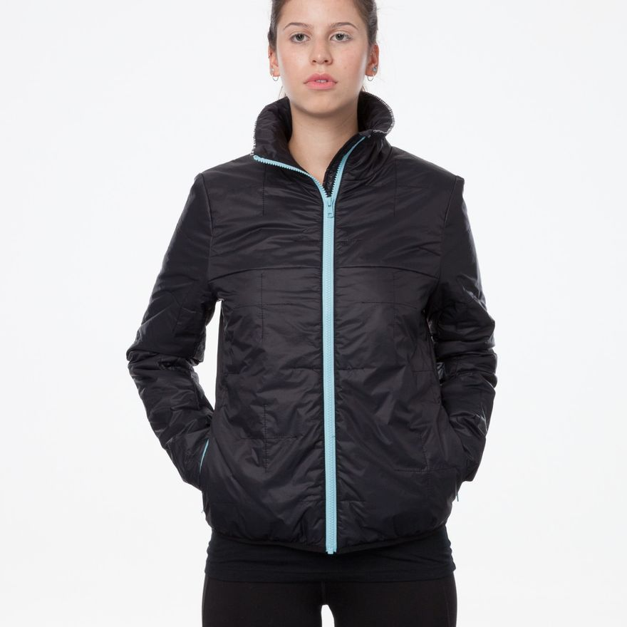 TT2001 Light Kapok Anorak Woman Black/Blue PETA-Approved Vegan – Bild 5