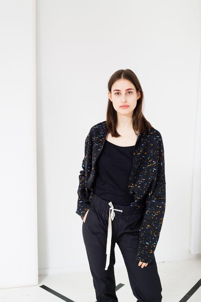 Marble TT1021 Drape Jacket Woman graphite Bio & Fair – Bild 4