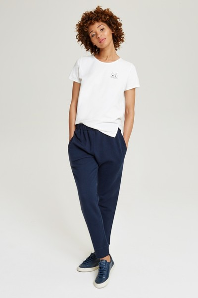Abbey Fleece Trousers Navy