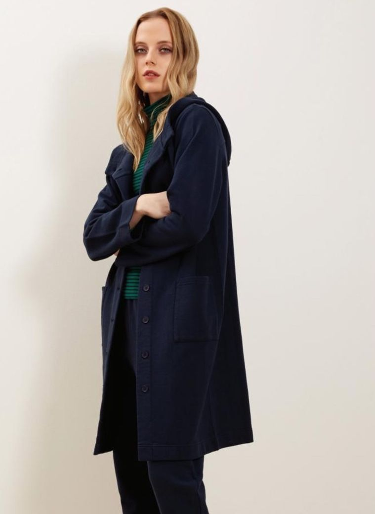 Yvette Fleece Coat Navy   – Bild 1