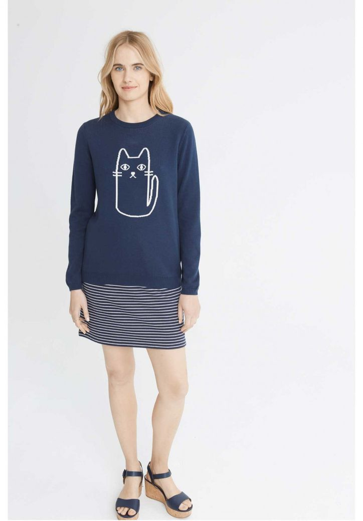 Cat Jumper Navy – Bild 2