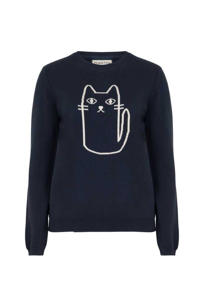 Cat Jumper Navy – Bild 1