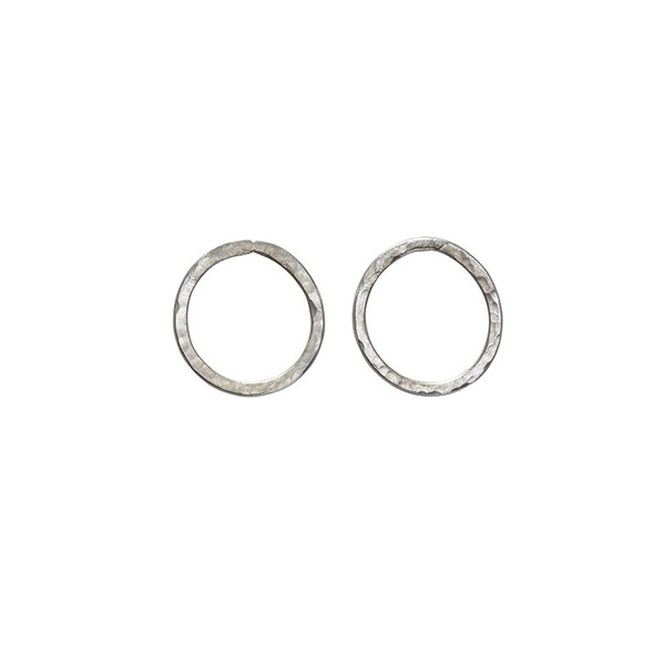 Simple Circle Earrings Silver – Bild 1