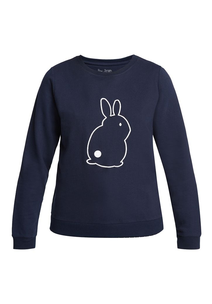 Bunny Embroidered Sweatshirt