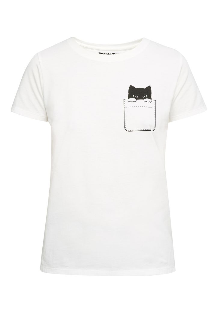 Peeking Cat Tee – Bild 1