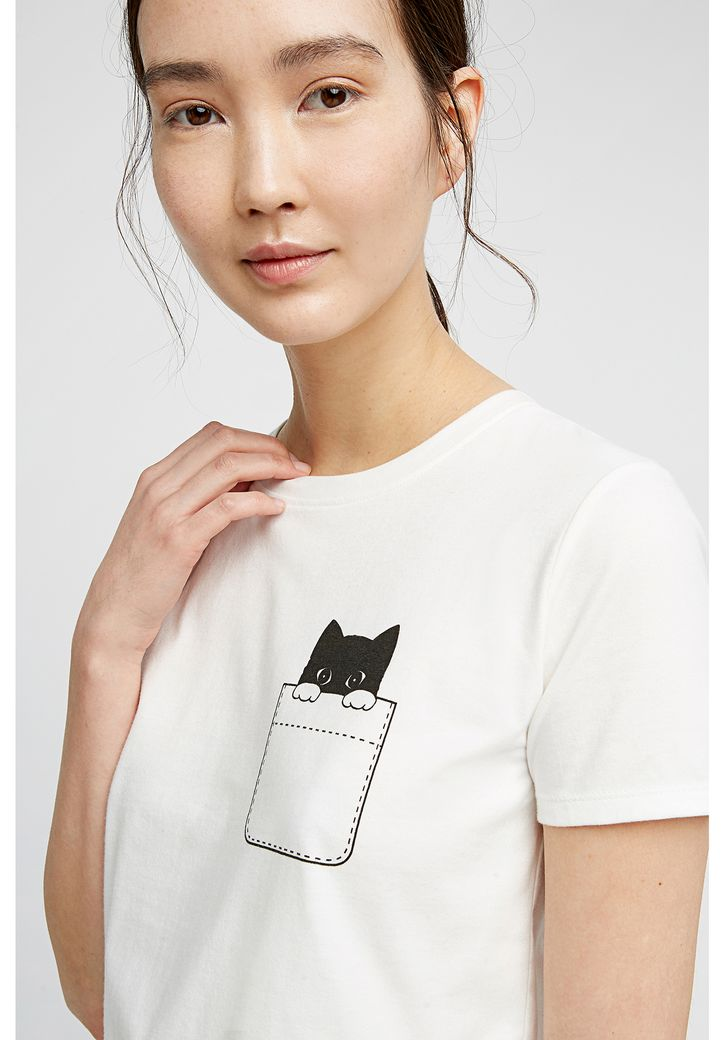 Peeking Cat Tee – Bild 3