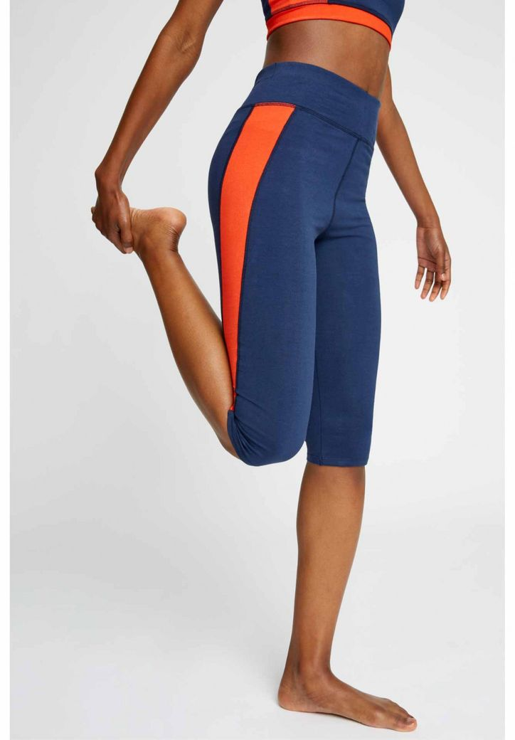 Yoga Colourblock Cropped Leggings in Fiesta – Bild 5