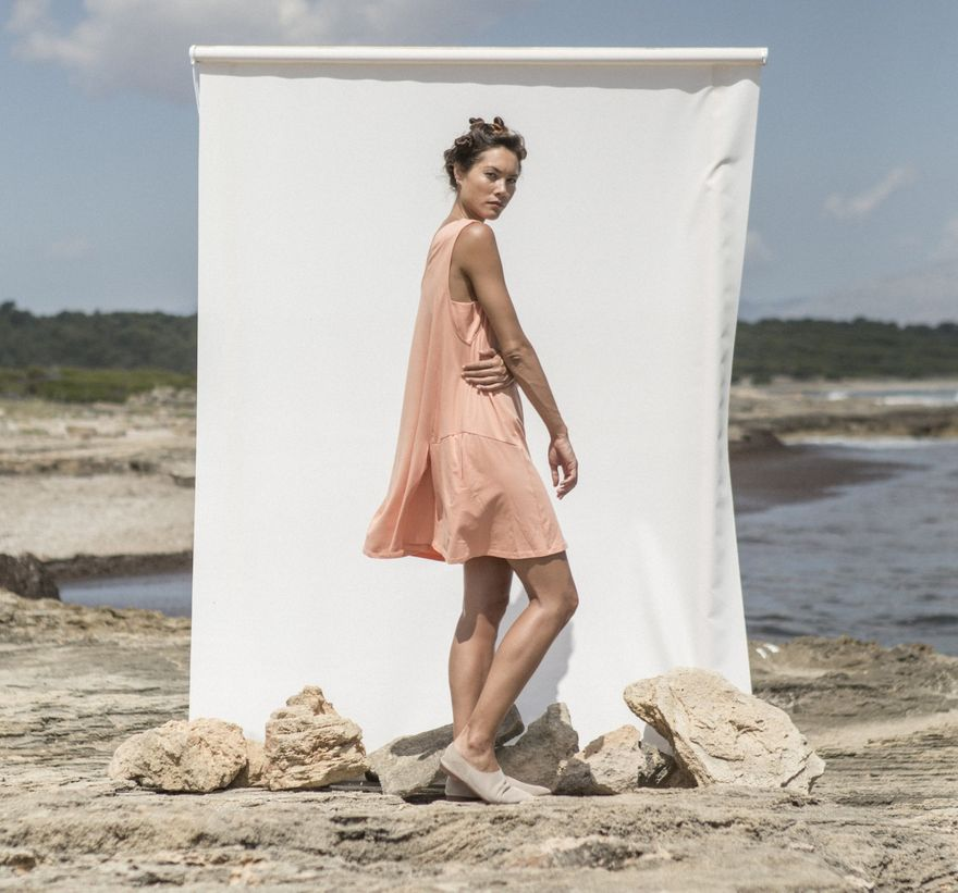 Morgana Dress Coral – Bild 4