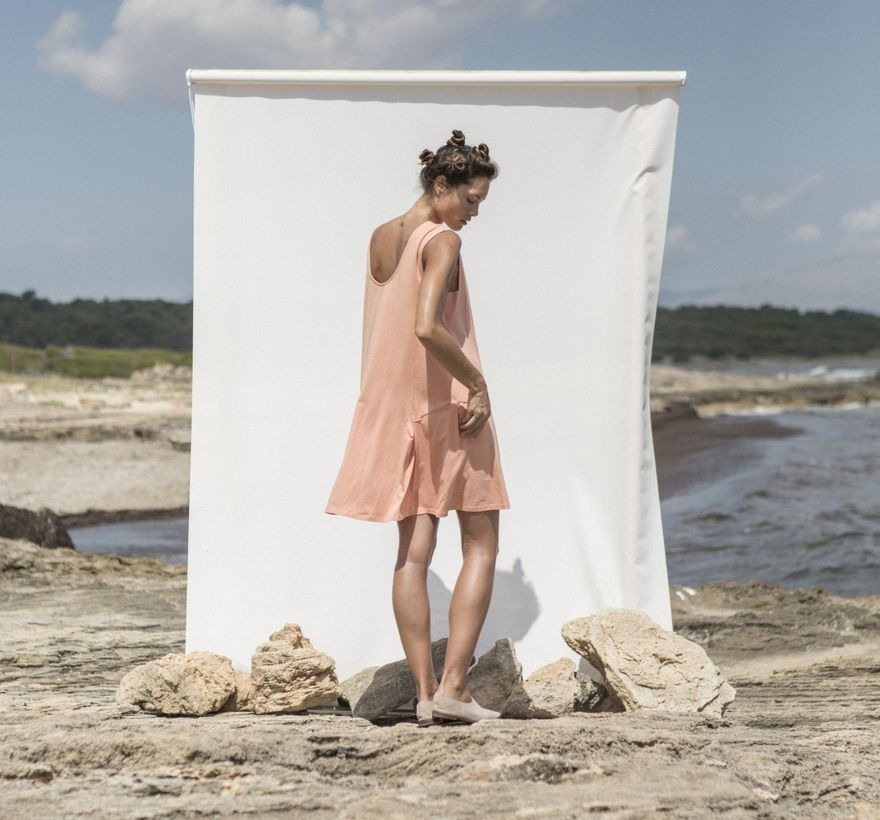 Morgana Dress Coral – Bild 5