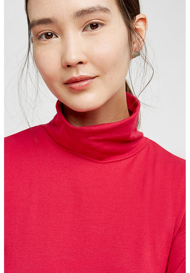 Laila Roll Neck Top Pink – Bild 5