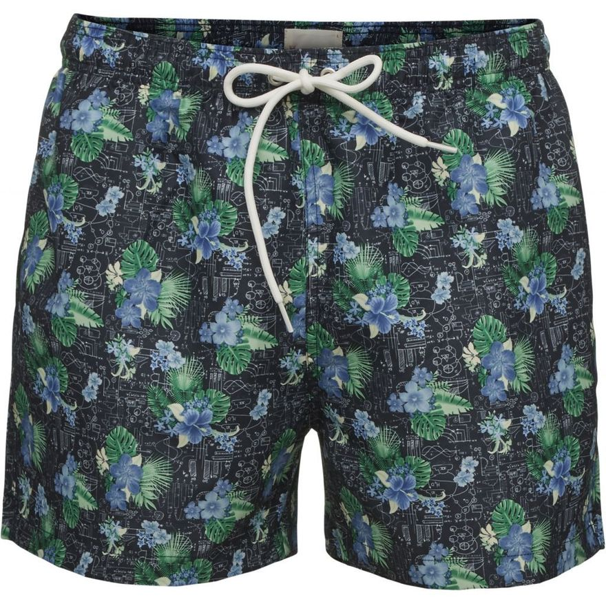 Swim Shorts Palm Print Total Eclipse