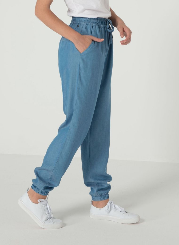 Tencel Hose light denim – Bild 2