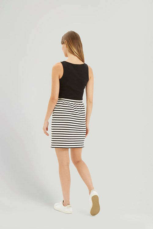Lia Stripe Skirt in Black – Bild 2