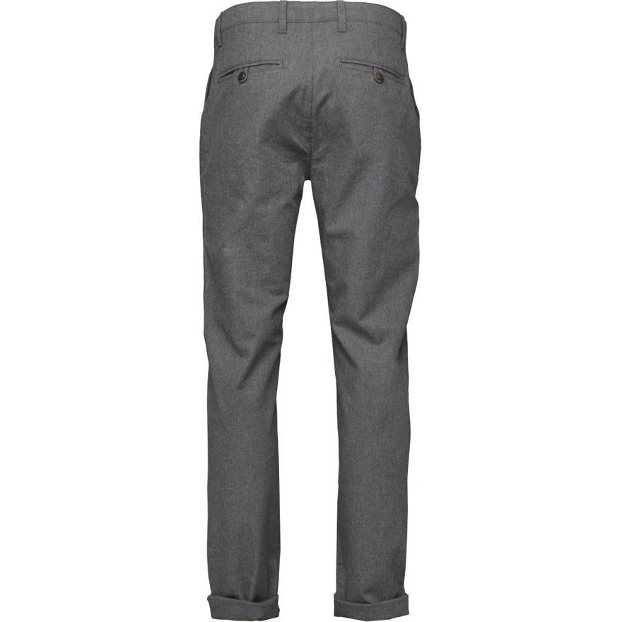 Chuck The Brain Flannel Twill Chino - GOTS Dark Grey Melange – Bild 4