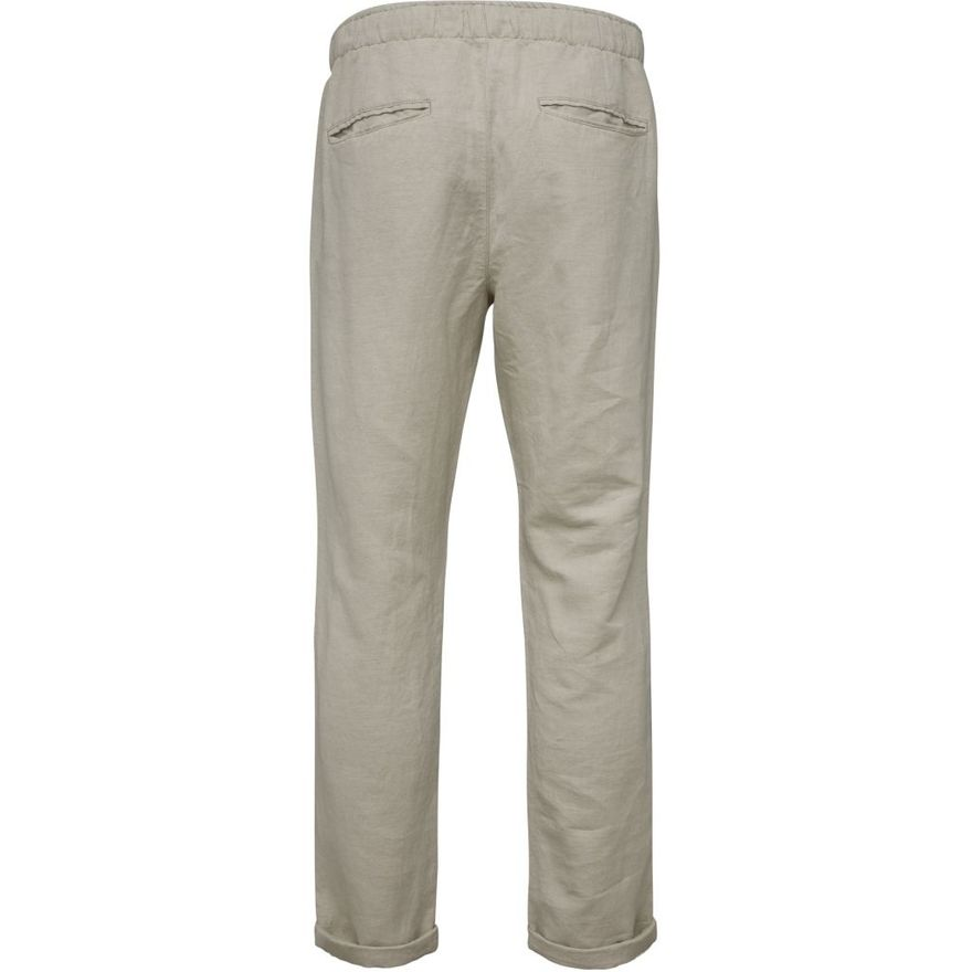 Loose Pant with string inside waist GOTS Feather Grey – Bild 2