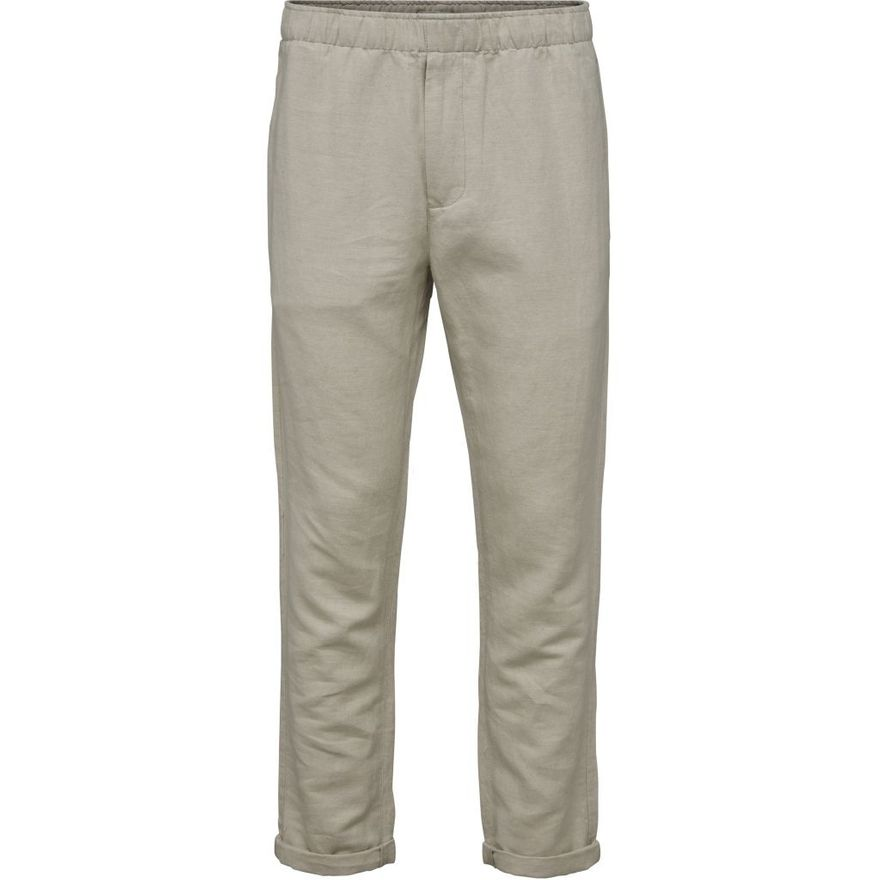 Loose Pant with string inside waist GOTS Feather Grey – Bild 1