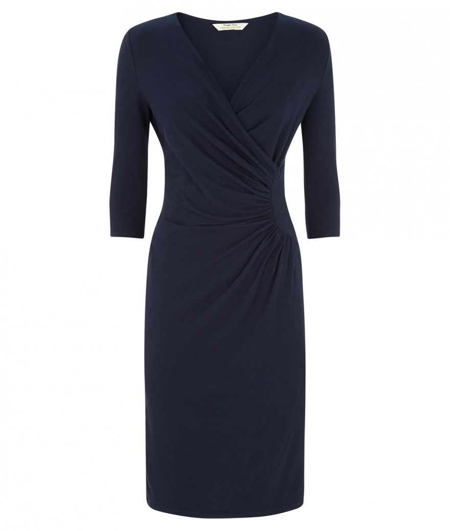 Stella Fitted Dress in Navy