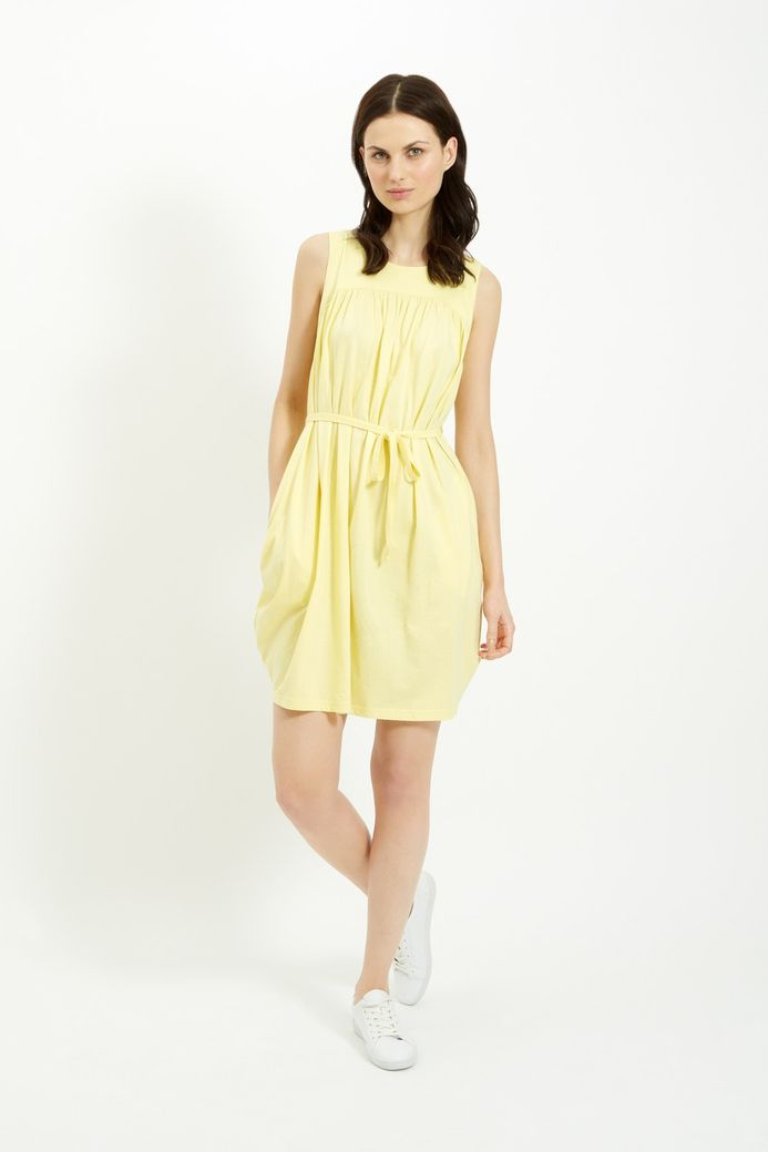 Gathered Tie Dress Yellow – Bild 3