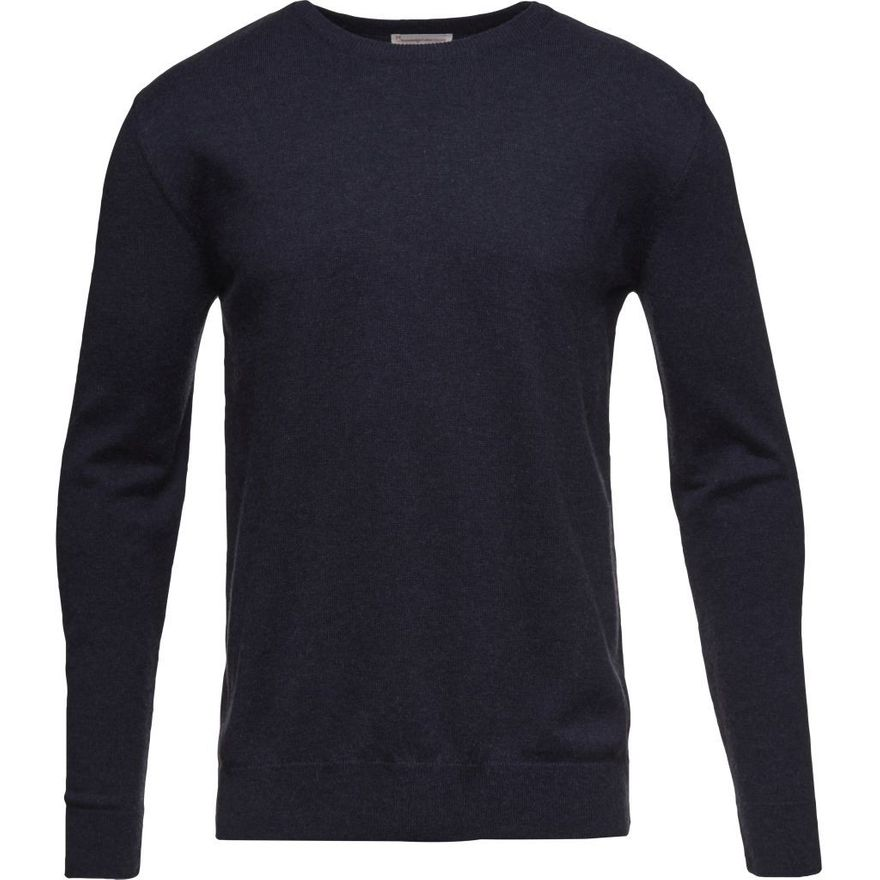 Basic O-Neck Cotton / Cashmere GOTS Total Eclipse – Bild 1