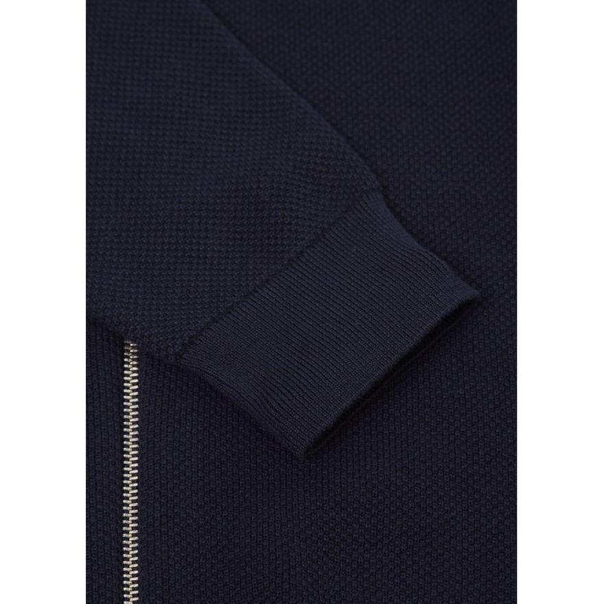 Pique knitted cardigan GOTS Total Eclipse – Bild 4