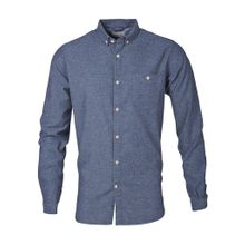Solid Col Flannel Shirt Limoges